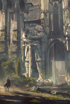 Fantasy Art Watch - This reminds me of the scenery from The Last Guardian, the art is beautifully done though!