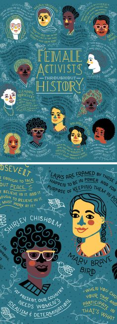 female activists throughout history as illustrated by rachel ignotofsky is part of Women empowerment art - Female Activists Throughout History, as Illustrated by Rachel Ignotofsky Illustrationart Women Character Illustration, Illustration Art, Illustrations Vintage, Nature Illustrations, Intersectional Feminism, Feminist Art, Women In History, Women Empowerment, Female Empowerment Quotes