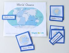 FREE Montessori Ocean 3-Part Cards & Control Chart