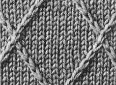 Encyclopédie des points de tricot. LE POINT Jersey Croisillon