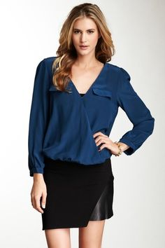 love the blouse- Joie  Istanbul Surplice Blouse