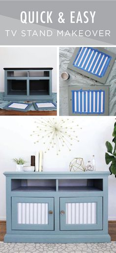 Bring Some Modern Style Into Your Home With This TV Stand Makeover From Sarah Of