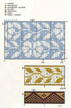 Bilderesultat for solveig hisdal knitting patterns Tapestry Crochet Patterns, Fair Isle Knitting Patterns, Knitting Charts, Knitting Stitches, Knitting Designs, Knit Patterns, Stitch Patterns, Sock Knitting, Knitting Tutorials