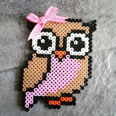 Owl hama beads by xxireen