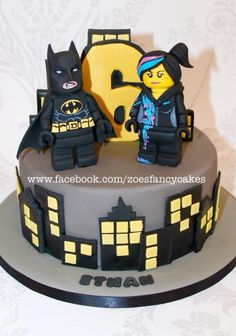 Batman and Wyldstyle cake - Cake by Zoe's Fancy Cakes
