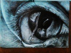 drawings in black pen  realistic ochi in pix negru