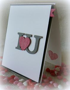 """Stampsnsmiles: I """"heart"""" U!  stunning card I love this!!"""