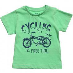 Baby Boys Green 'Cycling' T-Shirt