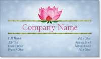 bamboo day spa Spot Gloss Business Cards