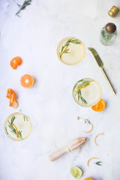 Rosemary Clementine Prosecco Cocktail