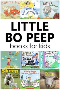 Fiction and nonfiction books inspired by Little Bo Peep. Perfect for preschool nursery rhyme theme activities. Preschool Reading Activities, Nursery Rhymes Preschool, Nursery Rhyme Theme, Preschool Books, Preschool Themes, Early Learning, Fun Learning, Little Library, Little Bo Peep