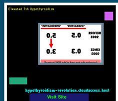 Elevated Tsh Hypothyroidism 142148 - Hypothyroidism Revolution!