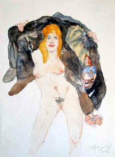 Carlos Alonso Figure Painting, Figure Drawing, Painting & Drawing, Art And Illustration, Art Paintings For Sale, Alonso, Erotic Art, American Art, Art Images