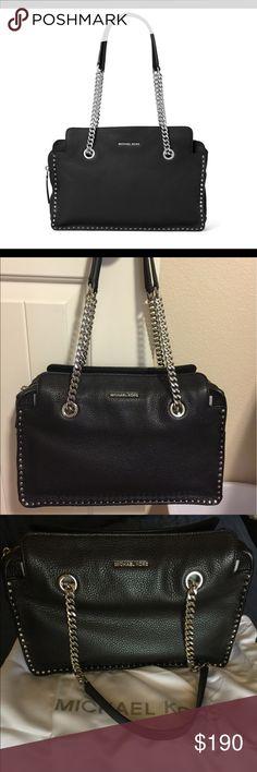 "Michael Kors black Astor leather satchel, NWOT Brand new. Beautiful black leather bag with sassy silver hardware. 13"" long x 9"" high x 4"" deep. Michael Kors Bags Satchels"