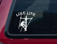 Excited to share this item from my #etsy shop: Line Life lineman vinyl decal, Line Life vinyl sticker, Line Life sticker, Line Life car decal, Line Life Lineman car truck sticker, lineman Sports Decals, Car Decals, Vinyl Decals, Kayak Stickers, Truck Stickers, Skeleton Photo, Motorcycle Decals, Life Car, Auto Glass