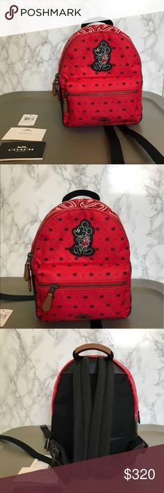 NEW Disney Coach Backpack Paisley Design Brand new coach Disney backpack! Coach Bags