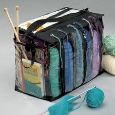 Yarn Tote - $14.99 - I neeeeed one!!! This is brilliant!