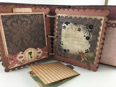 mini scrapbook album using Santoro London Paper Collection Santoro London, Stationary Gifts, Mini Albums, First Love, Steampunk, Crafting, Scrapbooking, Things To Come, Diy Crafts