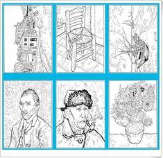 """30 pinturas de Van Gogh para imprimir y colorear"" (Educación Plástica de Primaria) Van Gogh Arte, Van Gogh Tattoo, Artist Van Gogh, Watercolor Paintings For Beginners, Jr Art, Ecole Art, Art Lessons Elementary, Famous Art, Vincent Van Gogh"