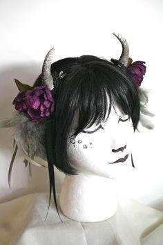 Pretty little flower crowns with pretty little horns