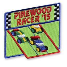 2 1/4 x 2 1/4 Inches **IRON-ON backing for easy & Snappy application** Here's another great choice for commemorating your youth group or troops next Pinewood Racer event. Our Pinewood Racer '15 fun patch is the perfect choice. http://www.snappylogos.com/Pinewood-Racer-15-Fun-Patch/productinfo/3544/