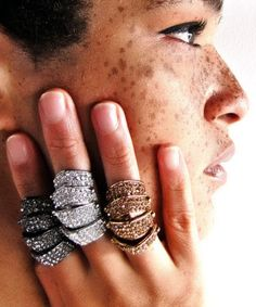 melody ehsani | shop » armor-dillo w/ crystals ring