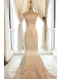 Pearl Mermaid Strapless Satin Sleeveless Wedding Dress http://www.devestidodenoiva.com.br/589-1247-thickbox/perola-cetim-sereia-sem-alcas-sem-mangas-vestido-de-noiva-wd0591.jpg