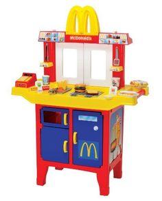 McDonald's Pretend Play Drive-Thru Window & Food Cart Restaurant Stove Little Girl Toys, Baby Girl Toys, Toys For Girls, Kids Toys, Baby Dolls, Kids Grocery Store, Mcdonalds Kids, Pawer Rangers, Barbie Playsets