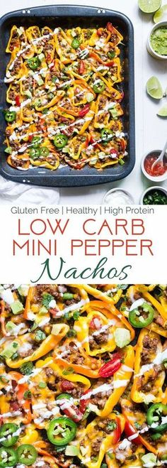 Mexican Mini Bell Pepper Nachos -These pepper nachos are LOADED with Mexican flavor! They're an easy, low carb and gluten free way to get your nacho fix for under 200 calories and 4 SmartPoints! | Foodfaithfitness.com | @FoodFaithFit