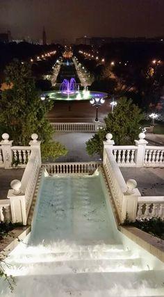 Vista nocturna del parque José Antonio Labordeta, Zaragoza España. foto Beatriz Benedicto