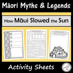 These are fun and engaging activity sheets for the story 'How Māui Slowed the Sun'. Plenty of activities to pick-and-choose from. Simply print and you're ready to go! A great addition to a unit study on Māori Myths and Legends. Most of the activity sheets can be used with any retelling of this story.