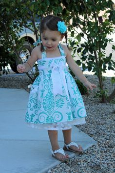 Girl's Dress sewing tutorial PDF kid's by TenderfeetStitches, $6.49