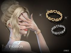 sims 4 cc // custom content accessories // the sims resource // S-Club LL gold silver bracelet 201802 The Sims 4 Skin, The Sims 4 Pc, Sims Cc, Sims 4 Nails, Sims 4 Piercings, Sims 4 Stories, Sims4 Clothes, Sims 4 Toddler, Gold And Silver Bracelets