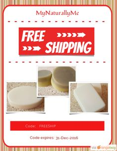 We are happy to offer FREE SHIPPING on our Entire Store. Coupon Code: FREESHIP Expiry: 31-Dec-2016 Click here to view all products:  Click here to avail coupon: https://orangetwig.com/shops/AAAWWt3/campaigns/AABptEI?cb=2015011&sn=MyNaturallyMe&ch=pin&crid=AABptGL