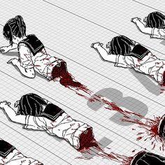Gore is my Life Arte Horror, Horror Art, Yandere, Creepy Art, Scary, Manga Anime, Anime Art, Ero Guro, Blood Anime