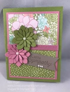 Succulent Flowers Stampin' Up! All the details on my blog at: http://www.kimsbasementbunch.com/2017/01/love-succulent-flowers-in-new-occasions.html