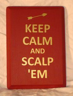 FSU Seminoles (Noles) Scalp 'Em Wall Art. $12.00, via Etsy.