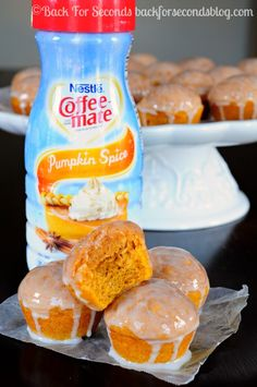 Glazed Cinnamoon Pumpkin Donut Muffins - These are insanely good and even low fat!!! @Beverly Kaine For Seconds #pumpkin #lowfat #cinnamon #donut #muffins #shop