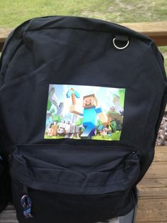 a9cd6b49f8fa Custom-made minecraft backpack  35 Minecraft Backpack