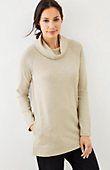plus size  - 1X Pure Jill soft-touch cotton cowl-neck tunic | J.Jill