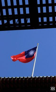 Taiwan flag in San Francisco CA