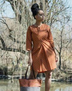 Orange Shirt dress, African shirt, African dress for women, elephant fabric dress for African women African Print Shirt, African Shirts, African Print Dresses, African Fashion Dresses, African Attire, African Wear, African Women, African Dress, Ankara Fashion