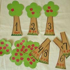 Risultati immagini per montessori material selber machen kindergarten Montessori Materials, Montessori Activities, Preschool Learning, Kindergarten Math, Learning Activities, Preschool Activities, Numbers Preschool, Learning Numbers, Toddler Crafts