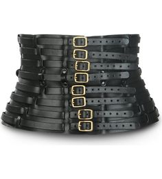 ZANA BAYNE - Buckle-fastened leather belt #fashion #accessories