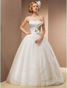 Layered Satin and Taffeta Avant Garde-Designed Ball Gown With Removable Straps
