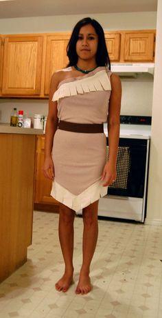 DIY Pocahontas halloween costume making your own dress #Disney #creative