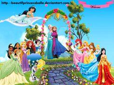Disney Princesses - Royal Welcome To Anna And Elsa by BeautifPrincessBelle.deviantart.com on @DeviantArt