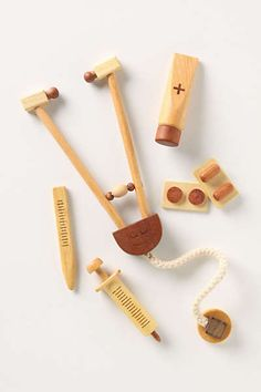 Anthropologie - Wooden Doctor Set @Christopher Yuen for our budding Ophthalmologist?