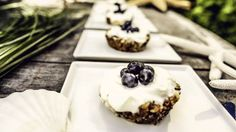 Featured Recipe: Mini Fruit Tarts! Ingredients •1 Cup quinoa •½ Cup oats •⅓ Cup raw cashews •½ Cup dates, pitted & chopped •½ Cup coconut oil •⅓ Cup almond butter •⅓ Cup coconut butter •2 Tbs. honey