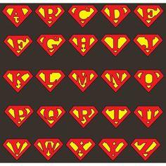 superman alphabet letters template google search images